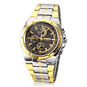 Men's Round Dial Alloy Band Quartz Analog Wrist Watch