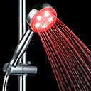 3-Color Temperature Detectable ABS LED Color Changing Hand Shower