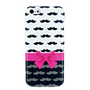 Bowknot & Mustache Soft IMD TPU Cover for iphone 5C