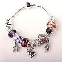 Purple Beads Charm Bracelet for women European Style Handmade beaded bracelets
