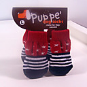 Fashion Stars and Stripes Cotton Socks with Non-slip for Pets Dogs