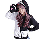 Buy Inspired Dangan Ronpa Monokuma Video Game Cosplay Costumes Hoodies Patchwork Black Long Sleeve Coat
