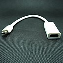 Mini Display Port Male to HDMI Female Adapter Cable for MacBook - White
