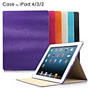 Mouse Lines PU Leather Case with Stand for iPad2/3/4