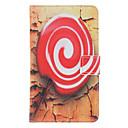 Lollipop Pintura Patrón de cuero de imitación con plástico duro de la contraportada bolsas para Samsung Galaxy Nota 2 N7100