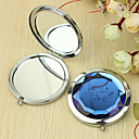 Personlig gave Flower Pattern Chrome Compact Mirror