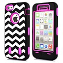 2 in 1 The Waves Pattern  Robot Style PC and TPU Composite Case for iPhone 5C(Assorted Colors)