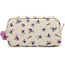 Buy Quadrate Fresh Small Purple Flower Pattern Fluff Balls Make up/Cosmetics Bag Cosmetics Storage