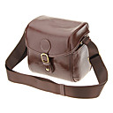 IH288-DBR One-Sholder taske til kamera / camcorder (Dark Brown)