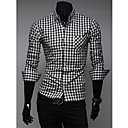 Men's Cotton Check Long Sleeve Shirt