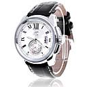 Men's Calendar Dial Analog Quartz Leather Band Water Resistant Wrist Watch