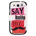 Elonbo J6B Lovely Moustache Full Body Case Cover for Samsung Galaxy S3 I9300