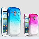 Waterdrop Gradient Color Transparent PC Hard Case for Samsung Galaxy S III mini I8190 I8190N(Assorted Colors)