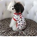 Dog Shirt / T-Shirt Red Summer Cartoon