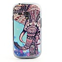 Colorful Elephant Pattern PVC Back Case for Samsung Galaxy S3 Mini i8190