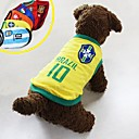 New World Cup Soccer Sports Brazil Vest  for Pet Dogs(Assorted Size)