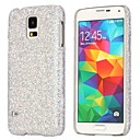 Glitter Flash Pailletten Avondjurk Patroon lederen Coated Hard Case Cover voor Samsung Galaxy i9600 S5