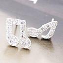 (Music Irregular) Silver Alloy Stud Earrings (1 Pair)