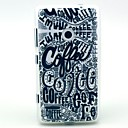 Coffee Letter Graffiti Pattern TPU Soft Case for Nokia Lumia N520