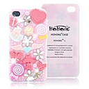 HOHONG (TM) Bling Full Pearl Lovely Pink Fairy Party Case for iPhone 4 / 4S
