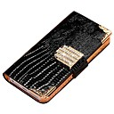 Shining Crystal Wallet Bling Leather Case for Iphone 4 4s