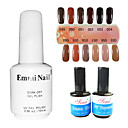 2PCS 14ml UV Top Coat Gel&Base Gel+1PCS 15ml UV Color Gel 12 Assorted Color NO.49-60