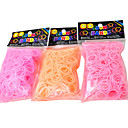 Rainbow Colorful Loom Strawberry Smell Pink Orange Rubber Band(600 Pcs Bands+24 Pcs C Or S Clips)