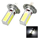 Marsing H7 20W 1500lm 4-COB LED 6500K White Light Car Koplamp Foglight - (12V 2 stuks)
