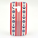 Striped Red Anchor Pattern Plastic Hard Case for Motorala Moto G