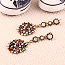 Gorgeous vintage European and American jewelry wholesale diamond circular pendant earrings earrings earrings E68
