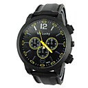 Men's Sport Style Large Dial Rubber Band Quartz Wrist Watch (Assorted Colors)