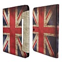 Retro UK Flag Pattern PU Leather Full Body Case telineellä Samsung Galaxy Tab 4 10,1 T530