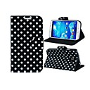 Pois Imprimer Faux Leather Case Flip pour Samsung Galaxy i9500 S4