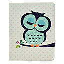 Sleeping Owl Pattern PU Leather Full Body Case with Stand for iPad 2/3/4