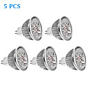 5 pcs GU5.3(MR16) 5W 4 High Power LED 270 LM Warm White MR16 LED Spotlight DC 12 V