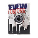 Kinston 360 graden draaibare live in New York Patroon PU Leather Full Body Case met standaard voor iPad Air