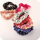 Fabric Polka Dots Elastic Hair Ties