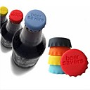 6 pcs Colorful Silicone Stoppers(Random Color)