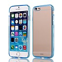 Natusun™ Solid Color TPU Border amd PC Transparent Substrate Cover for iPhone 6 (Assorted Colors)