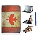 Canadian Flag Pattern PU Leather Full Body Case for iPad mini 3, iPad mini 2, iPad mini