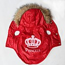 Dog Hoodies - XS / S / M / L - Winter - Red Terylene