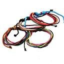 Buy Pretty Simple Multicolor Handmade Hemp Rope Leather Bracelets (Random color) Christmas Gifts