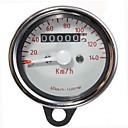 Motorcycle Dual Odometer Speedometer Gauge Test Miles Speed Meter