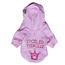 Dog Hoodie Pink Spring/Fall Letter & Number