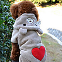 Heart Pattern Cute Bear Shape Hoody Suit for Dogs Assorted Sizes