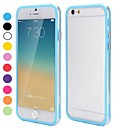 2014 Hot Sale Backless Bumper Frame Hybrid TPU and PC Cover for iPhone 6(Assorted Colors)