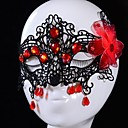 Europese stijl sexy rode bloem daling carnaval essentieel kant maskers