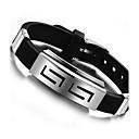 z&X® mands mode personlighed titanium stål silikone armbånd