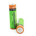 2Pcs PKCELL Colorful 1.6V 2500mAh AA Ni-ZN Rechargeable Batteries Set