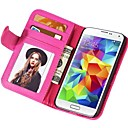 Soft Touch Wallet PU Leather Case for Samsung Galaxy S5 MINI